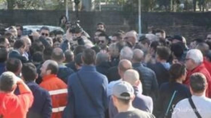 ArcelorMittal, a Taranto il presidio dell'indotto ex Ilva