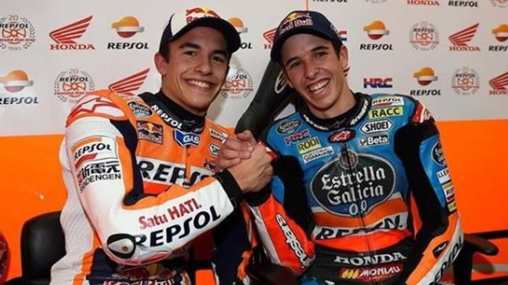 Alex Marquez in Honda dal 2020 con il fratello Marc