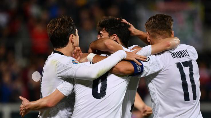 "Nazionale, Mancini: ""Una bella serata"". Jorginho: ""Italia brasiliana"""