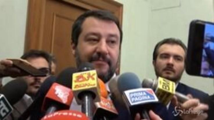 """Caso Cucchi, Salvini: """"La droga fa male, punto. La querela? In democrazia ognuno fa cosa vuole"""""""