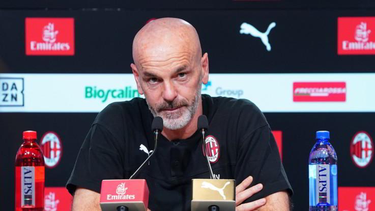 """Milan-Napoli, Pioli: """"Gara seria. Ibra un campione ma guardiamo al presente"""""""