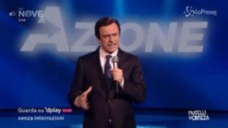 """Crozza/Calenda presenta il suo partito """"Azione"""": """"Fallisco sicuro, neanche mia madre mi vota"""""""