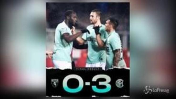 Serie A, l'Inter batte il Toro e risponde alla Juve
