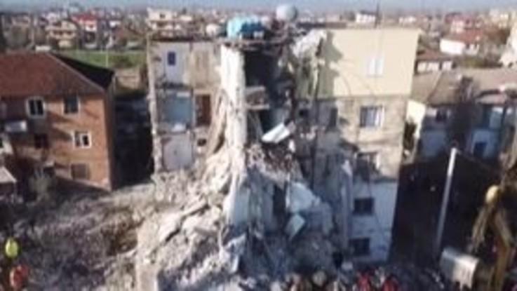 Terremoto in Albania, la distruzione vista dall'alto