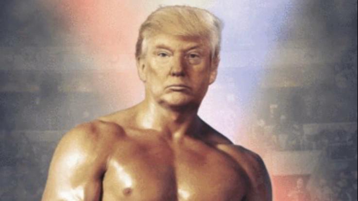 Donald Trump twitta il suo 'ritratto': ma il corpo è di Rocky Balboa