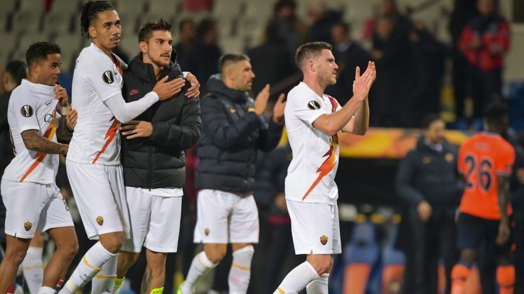 Europa League, Roma show in Turchia: Basaksehir travolto 3-0 davanti a Erdogan
