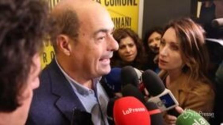"""Pd, Zingaretti: """"Lavoriamo per un governo che produca dei fatti"""""""