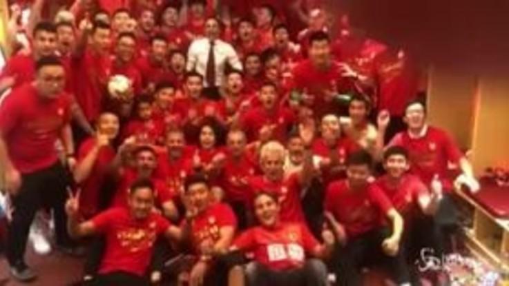 Fabio Cannavaro è campione di Cina, il video dei festeggiamenti