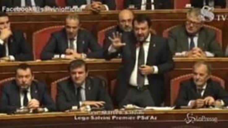 """Mes, Salvini attacca Conte e cita Confucio: """"Uomo da poco e arrogante"""""""