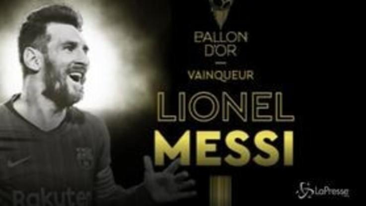 Pallone d'Oro, sesto trionfo per Messi: staccato CR7. De Ligt miglior giovane