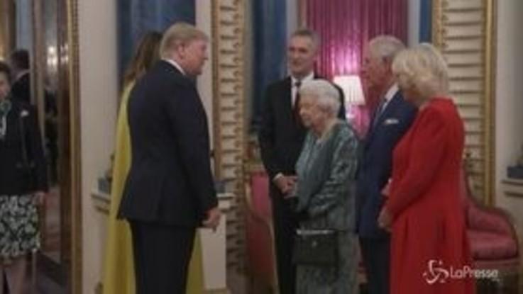 Vertice Nato a Londra, il ricevimento a Buckingham Palace