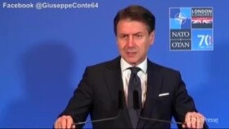 """Nato, Conte: """"Da Usa non ci aspettiamo Dazi contro nostre imprese"""""""
