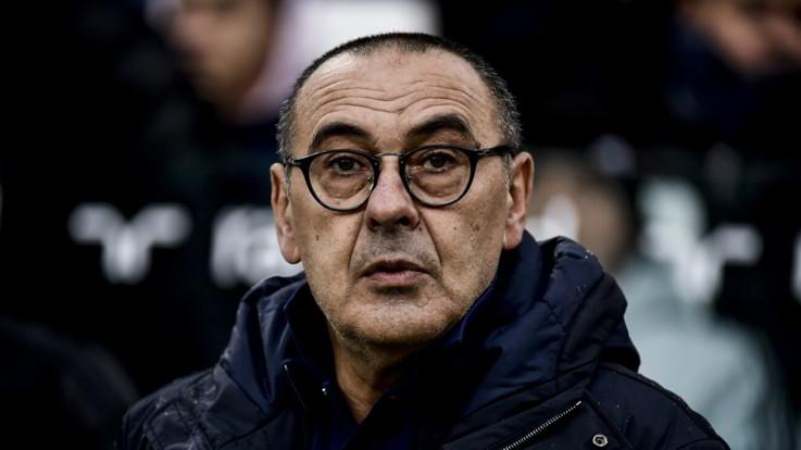 """Lazio-Juve, Sarri: """"Loro pericolosi. Sorpasso Inter? Uno stimolo"""""""