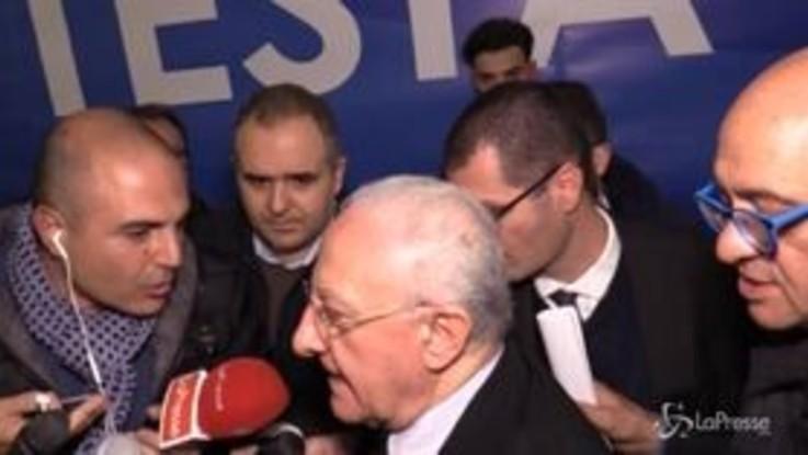 """Regionali Campania, De Luca: """"Dialogo aperto a tutti, anche a elettori M5S"""""""