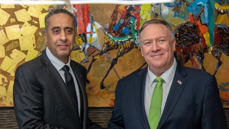 """Marocco, Pompeo vede n° 1 sicurezza: """"Importante cooperazione contro terrorismo"""""""