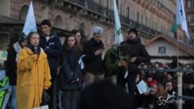 Fridays for Future, Greta accolta a Torino come una star