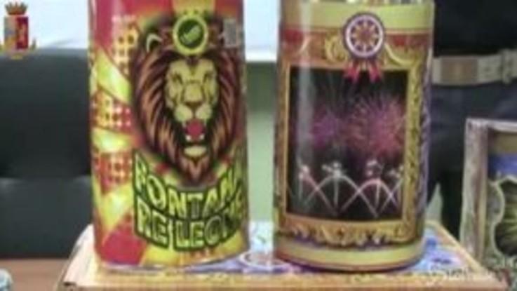 Potenza, la polizia sequestra 170kg di fuochi d'artificio illegali