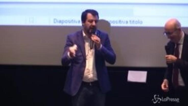 """Salvini: """"Non andrò agli auguri di Natale al Quirinale, ho la recita di mia figlia"""""""