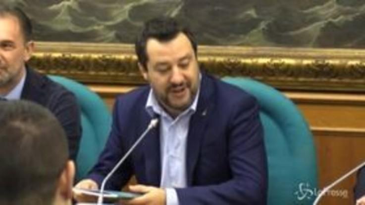 """Salvini: """"Conto di passare 2020 a piede libero. Impeachment a Trump? Sinistra contro volontà popolare"""""""
