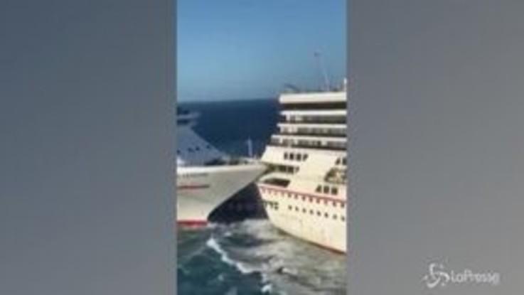 Messico: scontro tra due navi da crociera, le immagini sono spettacolari