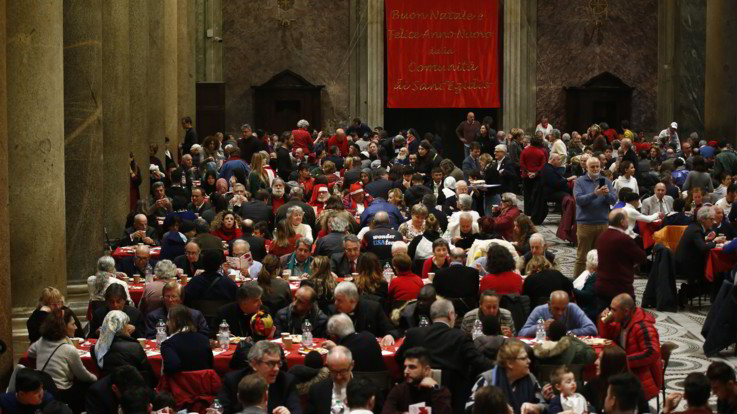 Natale, in oltre 60mila ai pranzi della Comunità di Sant'Egidio