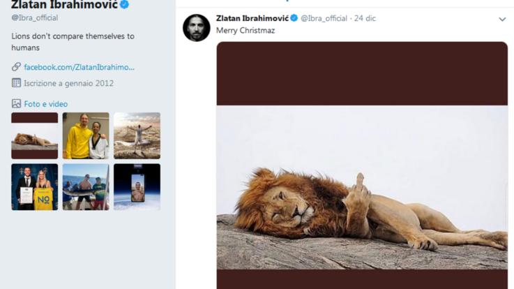 Ibrahimovic, auguri di Natale social... col dito medio