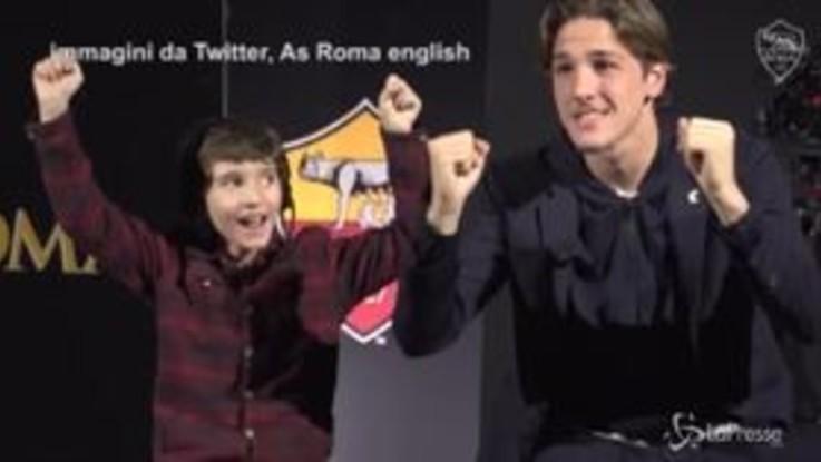 Zaniolo sorprende i giovani tifosi della Roma