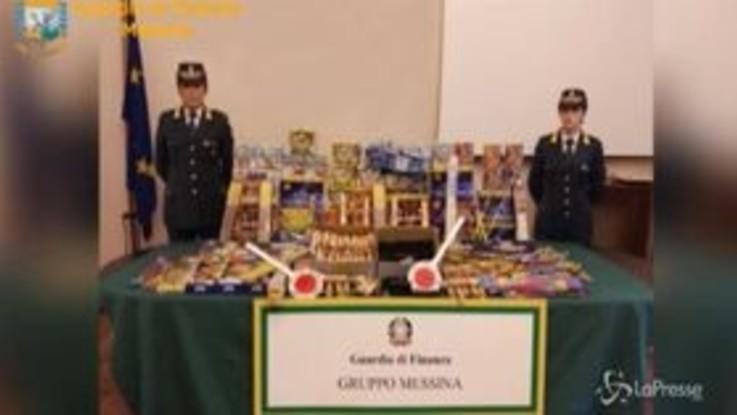 Messina, fuochi d'artificio venduti sui social network: sequestro della Guardia di Finanza