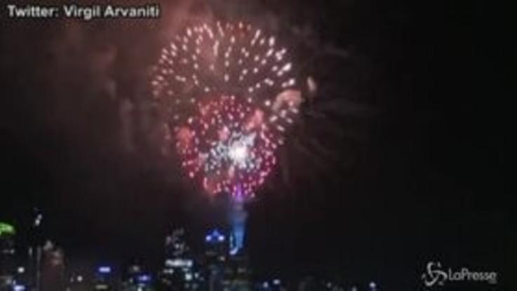 In Nuova Zelanda è già 2020: i fuochi d'artificio di Auckland
