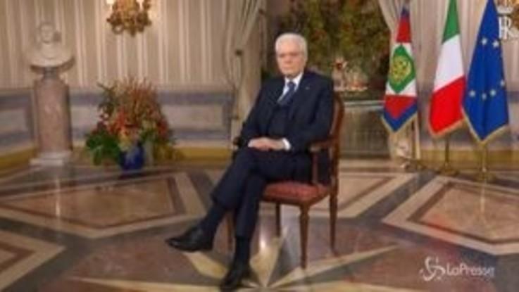 """Il messaggio di Mattarella: """"Si chiude decennio impegnativo, ora ampliare orizzonte riflessioni"""""""