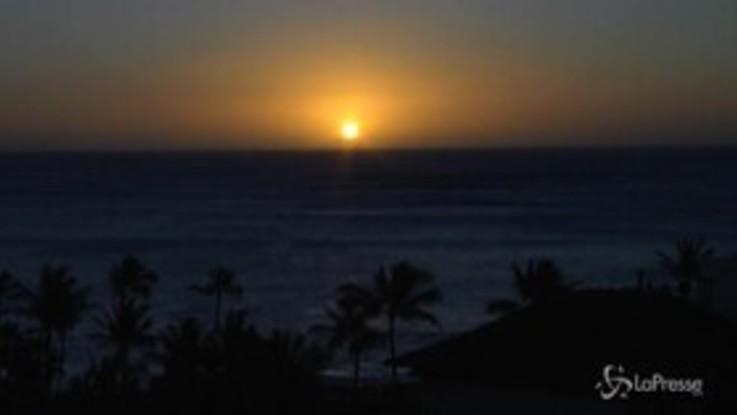 Capodanno, il 2020 è arrivato anche alle Hawaii