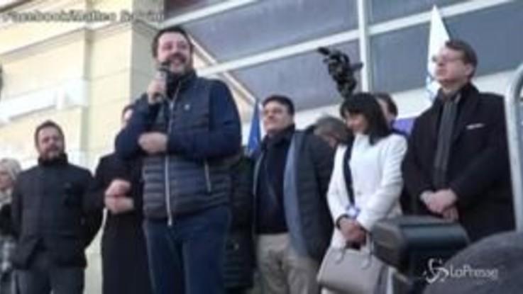 """Gregoretti, Salvini: """"Processeranno l'intero popolo italiano"""""""