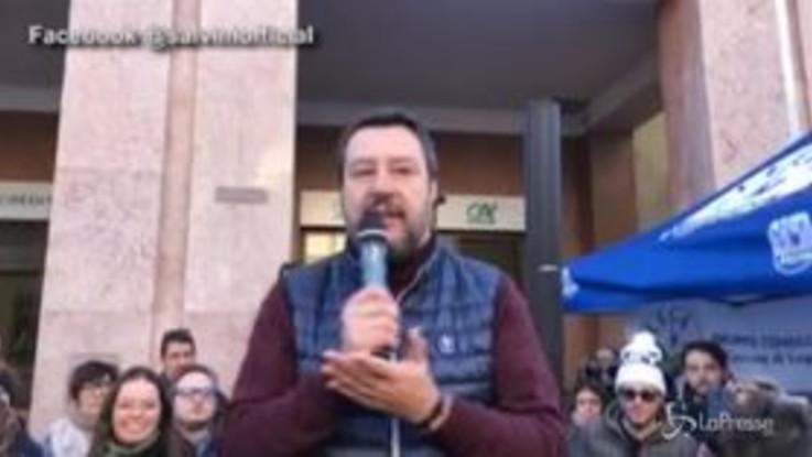 """Regionali, Salvini: """"In Emilia Romagna passa il treno per la storia"""""""