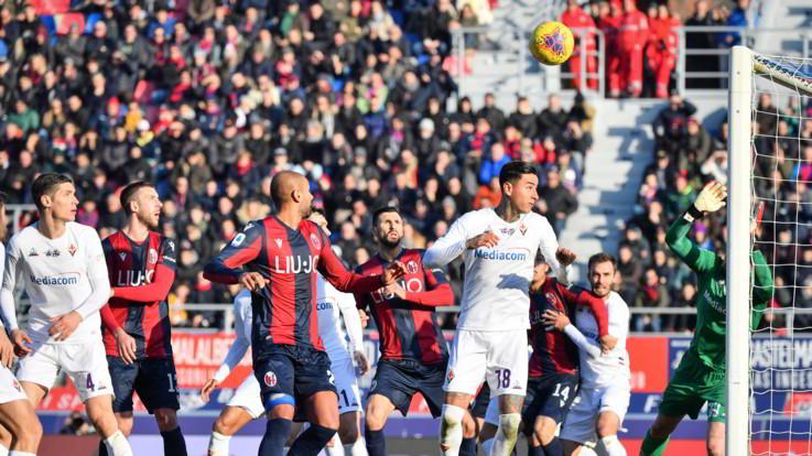 Serie A: Bologna-Fiorentina finisce in parità: 1-1