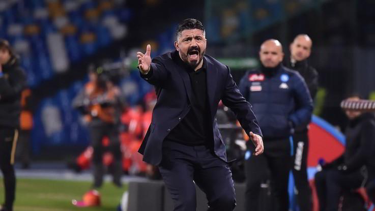 """Napoli, Gattuso: """"Ci siamo fatti i gol da soli, ma la squadra è viva"""""""
