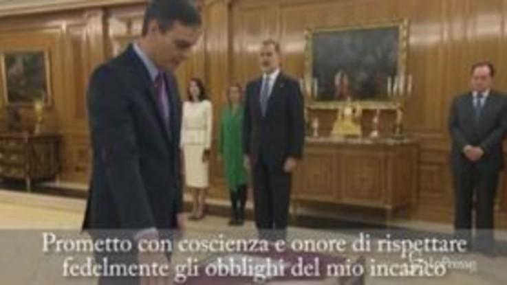 Spagna, Sanchez giura come primo ministro davanti al re Felipe VI