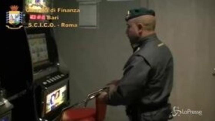 Gli affari della mafia nei videopoker, 36 arresti in Puglia
