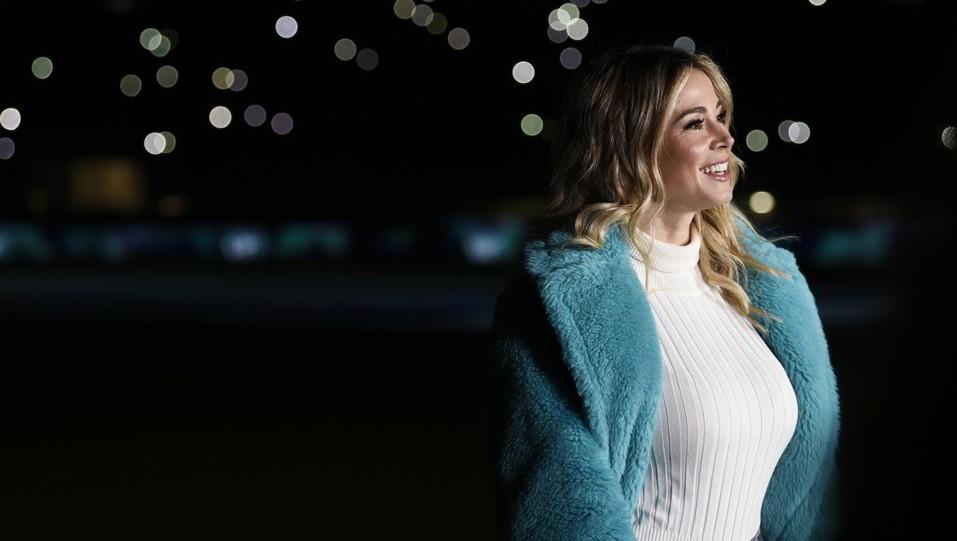 Diletta Leotta sul prato di San Siro per Inter-Atalanta