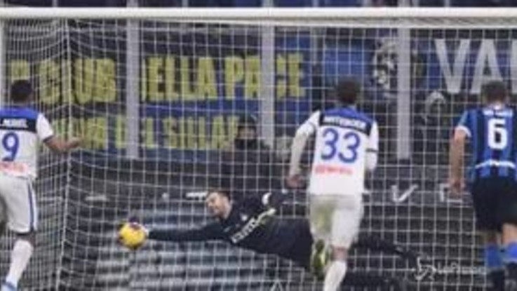 Calcio, Inter fermata sul pari dall'Atalanta