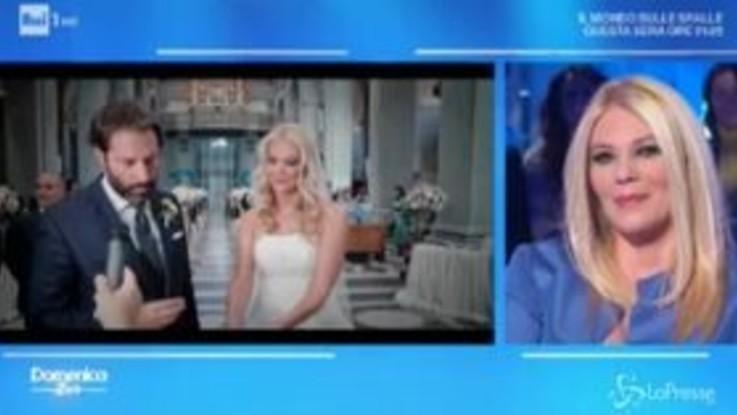 A Domenica In le immagini del matrimonio di Eleonora Daniele: emozioni in diretta tv