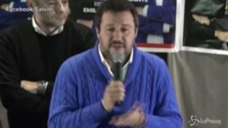 """Salvini: """"Bye bye a Conte se si vince in Emilia-Romagna e Calabria"""""""