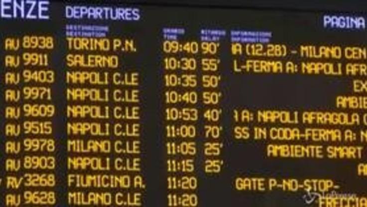 Roma Termini, treni in ritardo fino a 80 minuti