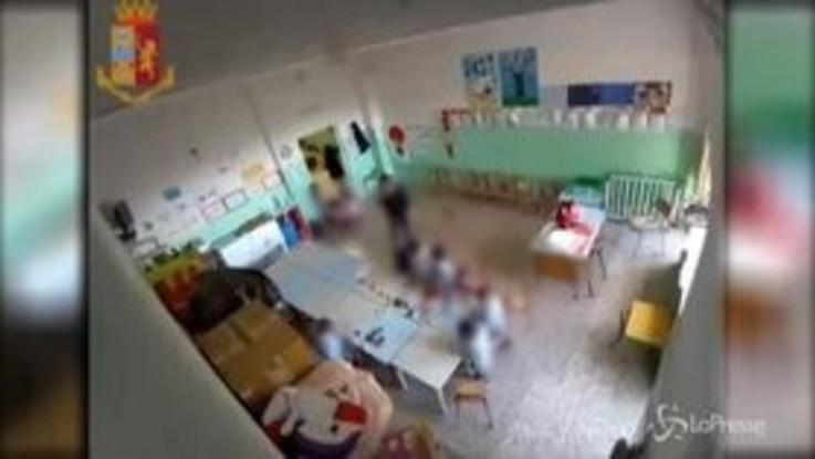 Urla, strattoni e schiaffi ai bimbi: sospesa maestra a Matera