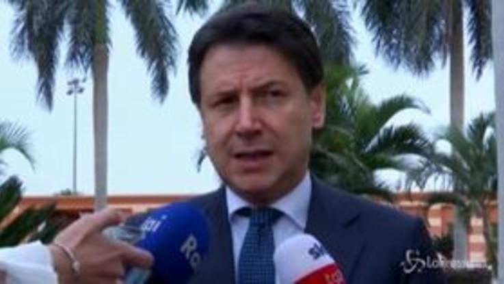 """Libia, Conte: """"Cessino le armi, parlino le diplomazie"""""""