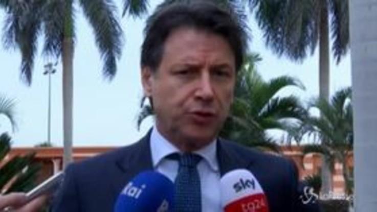 """Libia, Conte: """"Priorità cessate il fuoco sostanziale, non escludo invio soldati"""""""