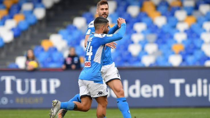 Coppa Italia, Napoli-Perugia 2-0: Azzurri ai quarti