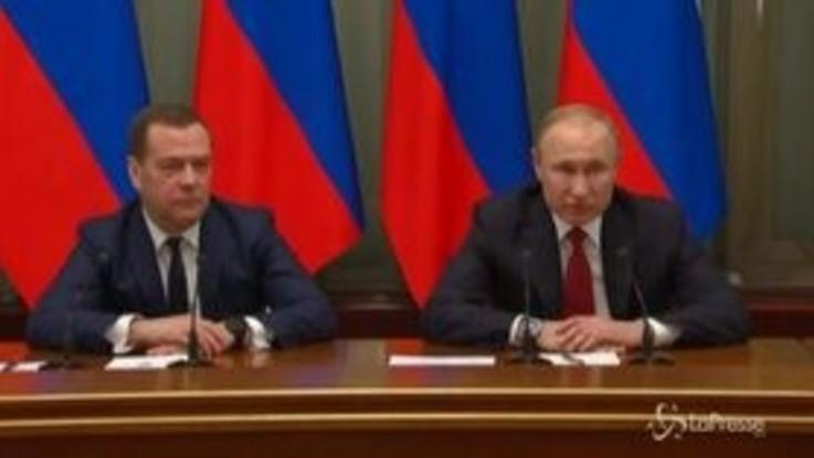 Russia, il primo ministro Medvedev si è dimesso