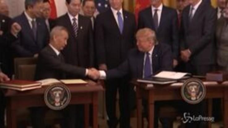 Dazi: accordo Cina-Usa, la storica firma alla Casa Bianca