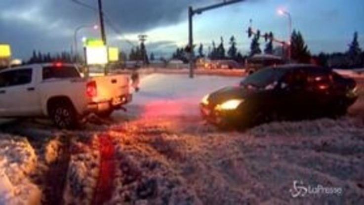 Usa, le pesanti nevicati mettono in ginocchio lo stato di Washington