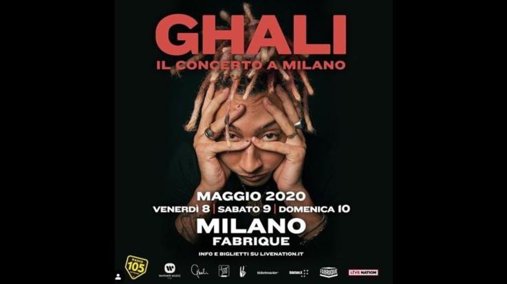 Ghali, a maggio 'Il Concerto a Milano', l'album 'Dna' esce il 20 febbraio